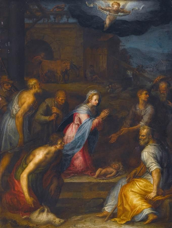 Adoration of the Shepherds, 1590 by Giovanni Balducci (1560-1631) | WahooArt.com