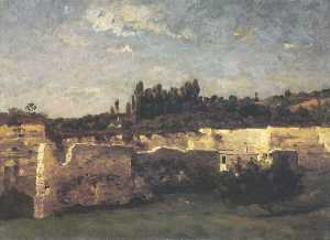 Antonín Chittussi - A Landscape with a Quarry at Champigny