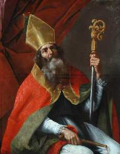 Order Art Reproductions | St Ambrose by Cesare Fracanzano (1605-1651) | WahooArt.com