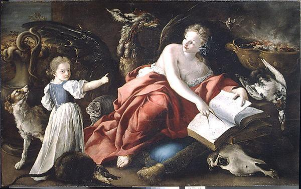 An Allegory by Domenico Guidobono | Famous Paintings Reproductions | WahooArt.com