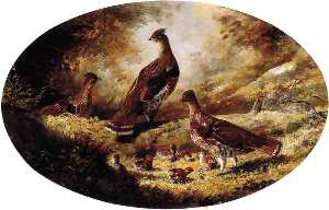 Joachim Ferdinand Richardt - Grouse Family