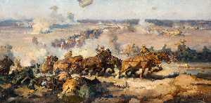 Harold Septimus Power - The battle before Villers Bretonneux, August 8th, 1918