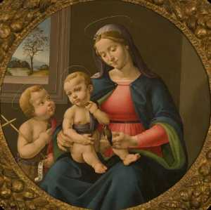 Pier Francesco Jacopo Di Foschi - Madonna and Child with Saint John the Baptist