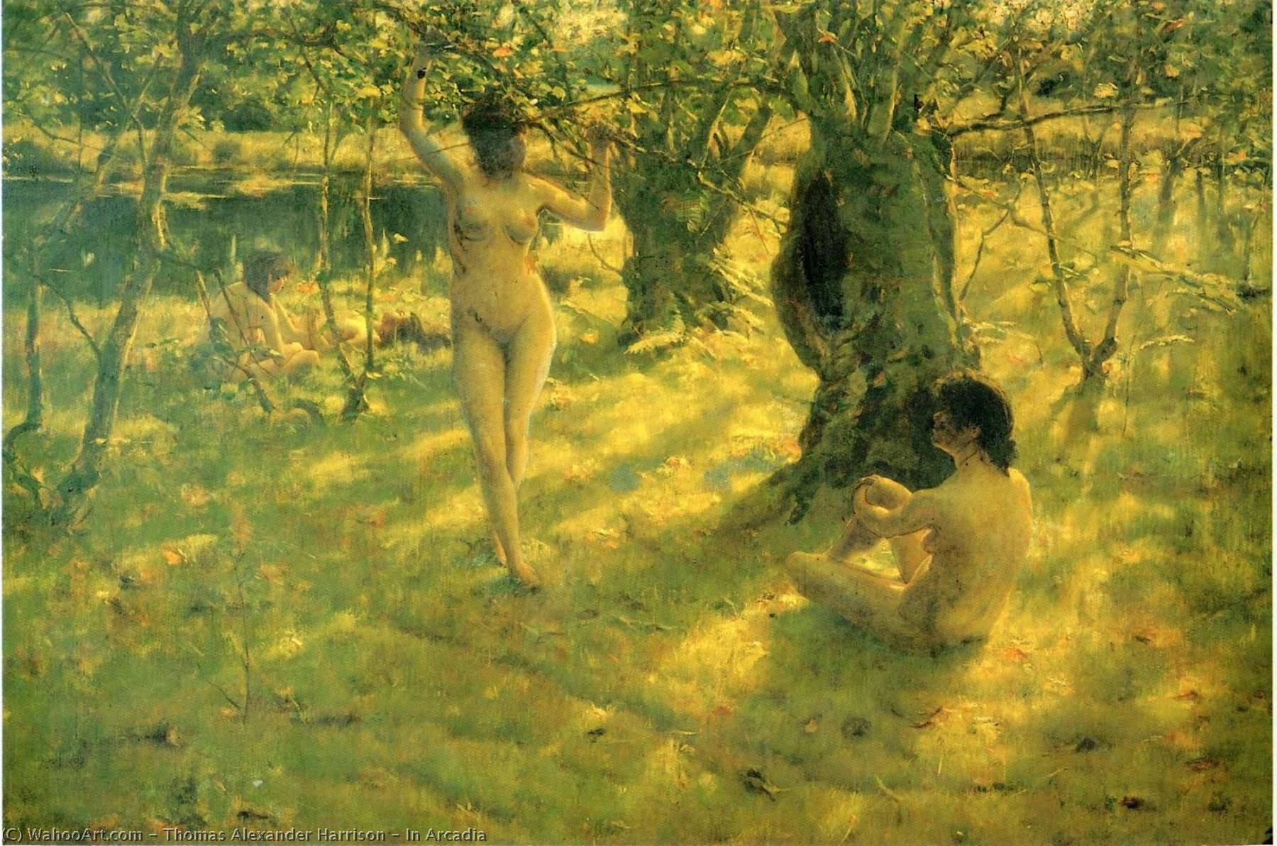 In Arcadia, 1886 by Thomas Alexander Harrison (1853-1930) | Painting Copy | WahooArt.com