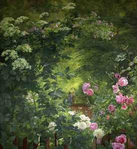 Carl Frederik Peder Aagaard - The Rose Garden