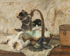 Henriette Ronner Knip - A Merry Party