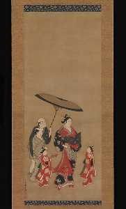 Miyagawa Isshō - Courtesan on Parade