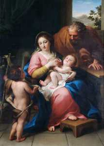 Anton Raphael Mengs - The Holy Family with the Infant Saint John