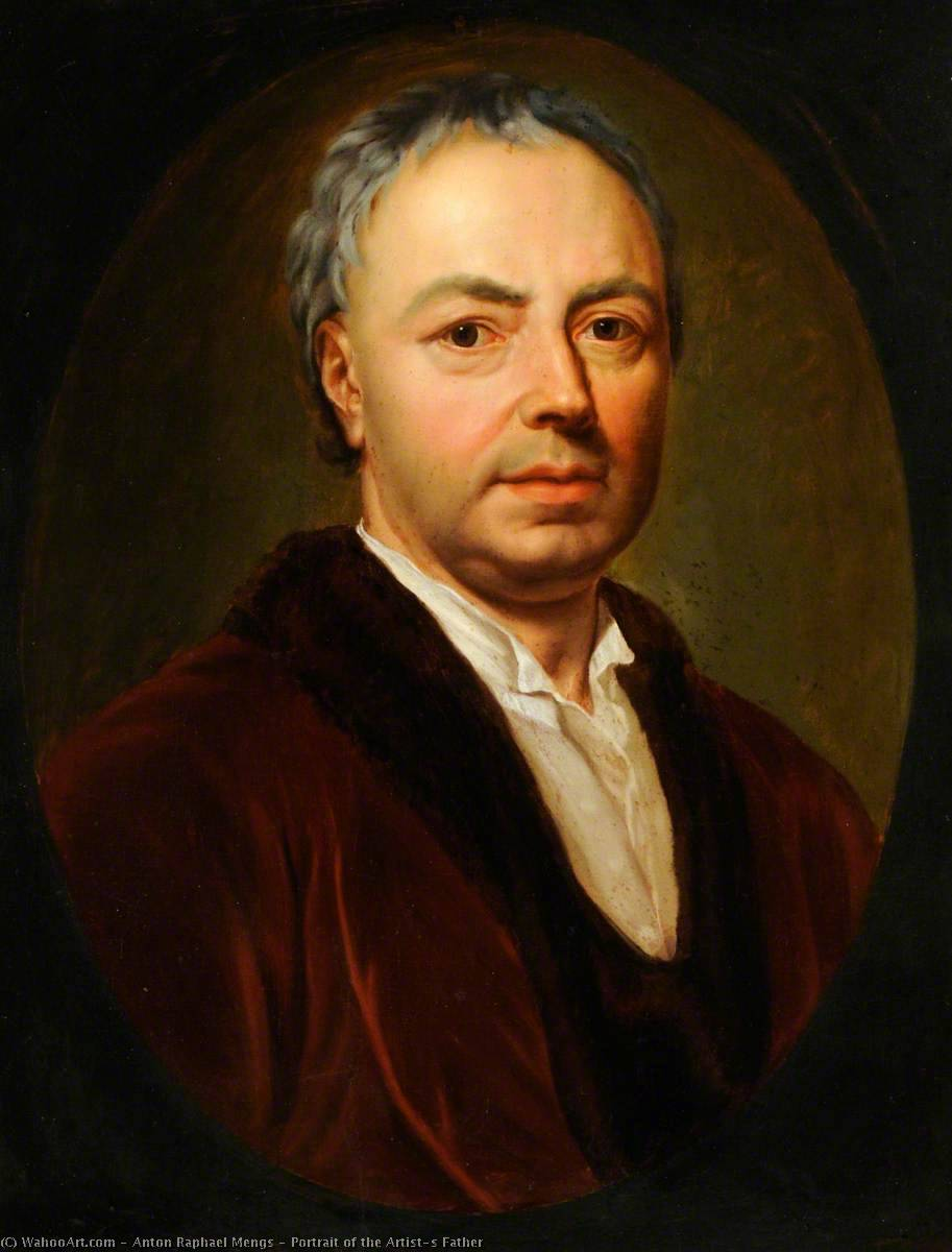 Portrait of the Artist`s Father by Anton Raphael Mengs (1728-1779, Czech Republic) | Museum Quality Reproductions | WahooArt.com