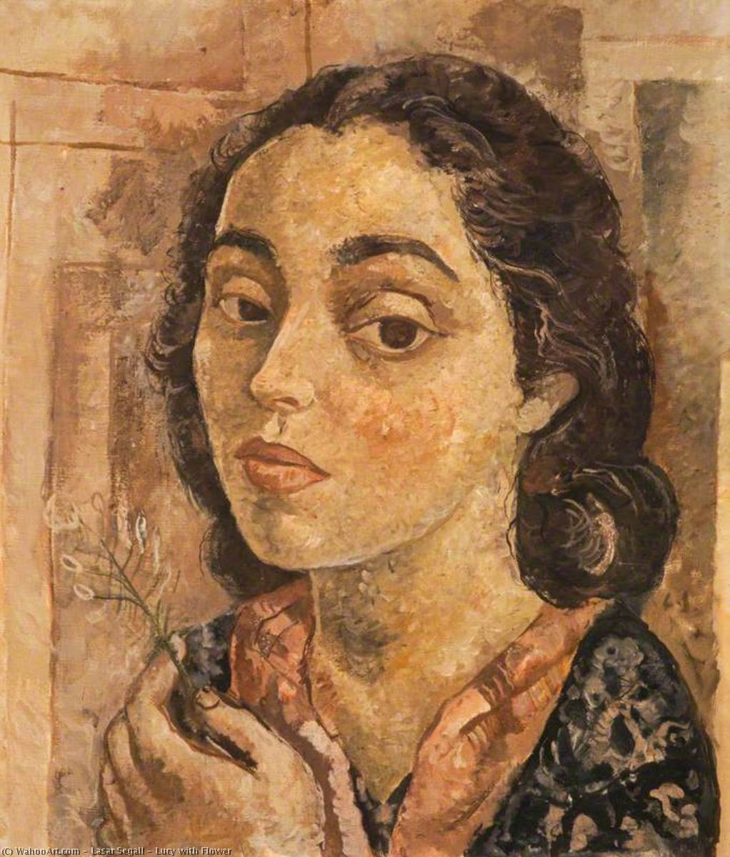 Lucy with Flower, 1942 by Lasar Segall (1891-1957, Lithuania) |  | WahooArt.com