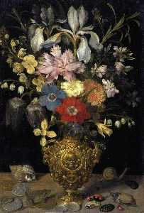 Georg Flegel - Still Life with Flowers