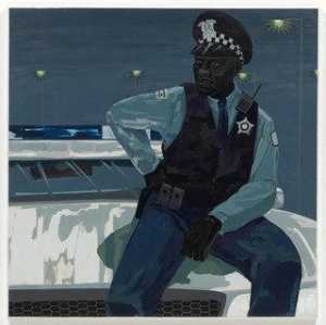 Kerry James Marshall - Untitled (policeman)