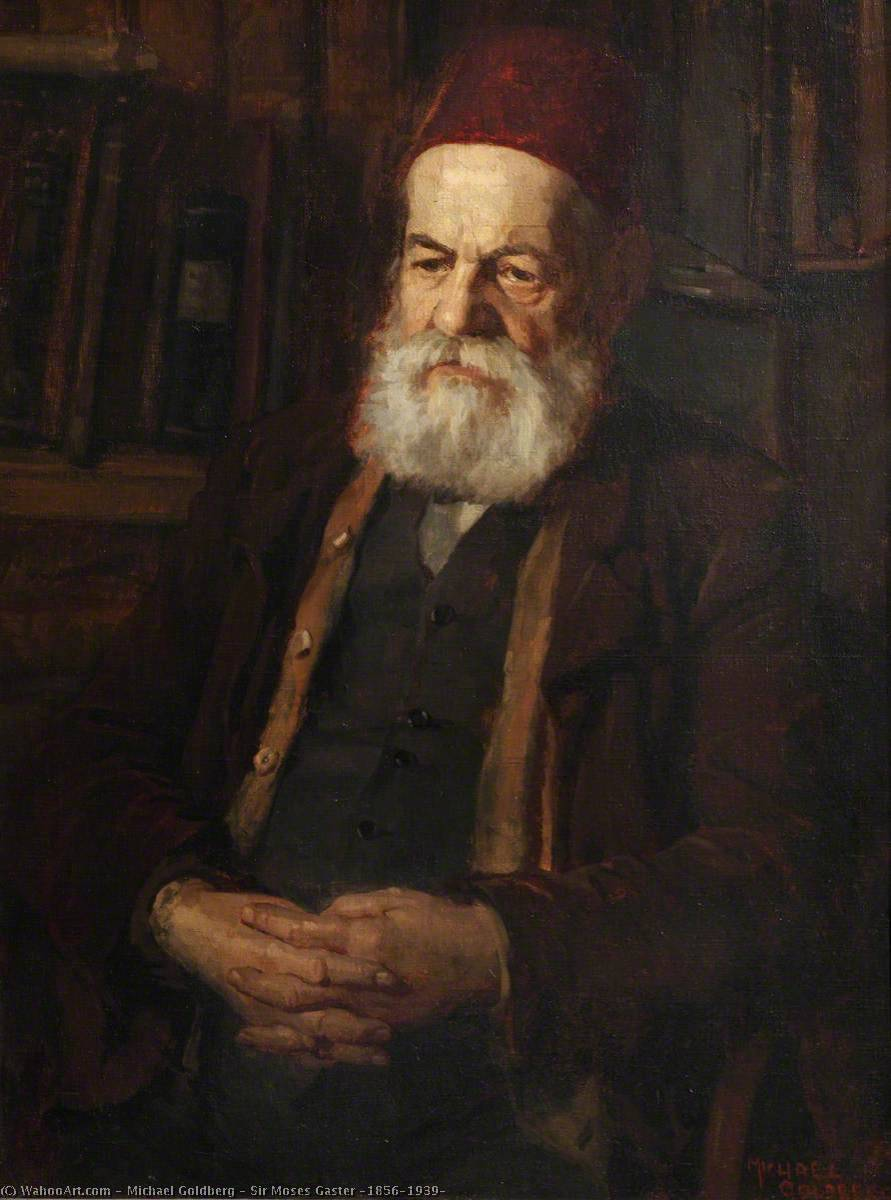 Sir Moses Gaster (1856–1939), Oil On Canvas by Michael Goldberg (1924-2007, United States)