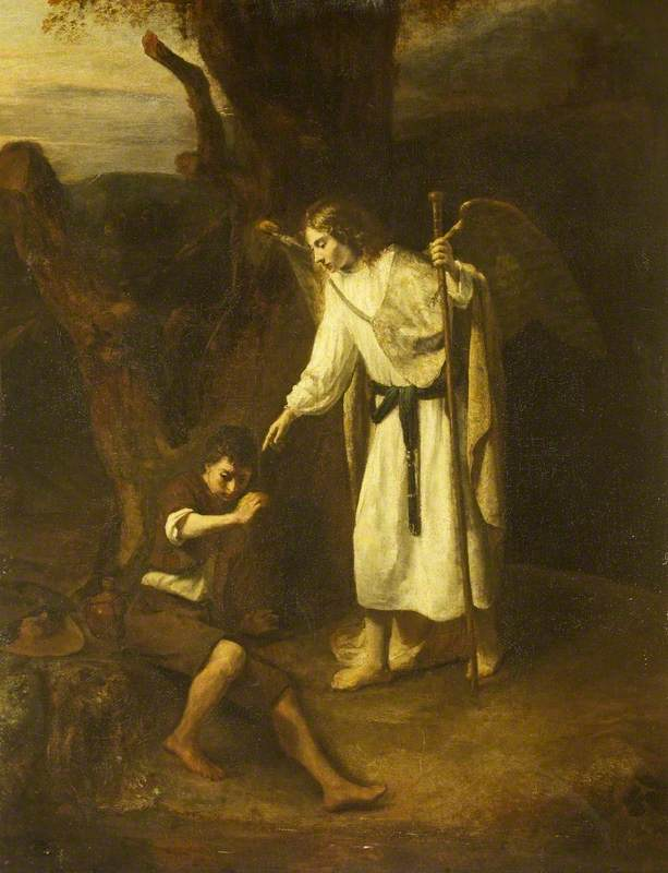 Tobias and the Angel, Oil On Canvas by Gerrit Willemsz Horst (1612-1652)