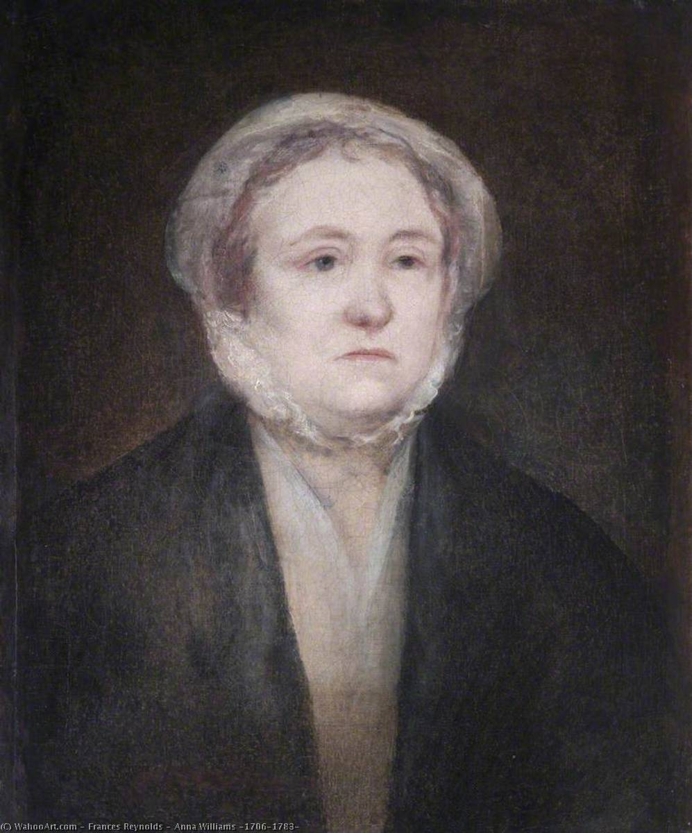 Anna Williams (1706–1783) by Frances Reynolds (1729-1807) | Paintings Reproductions Frances Reynolds | WahooArt.com