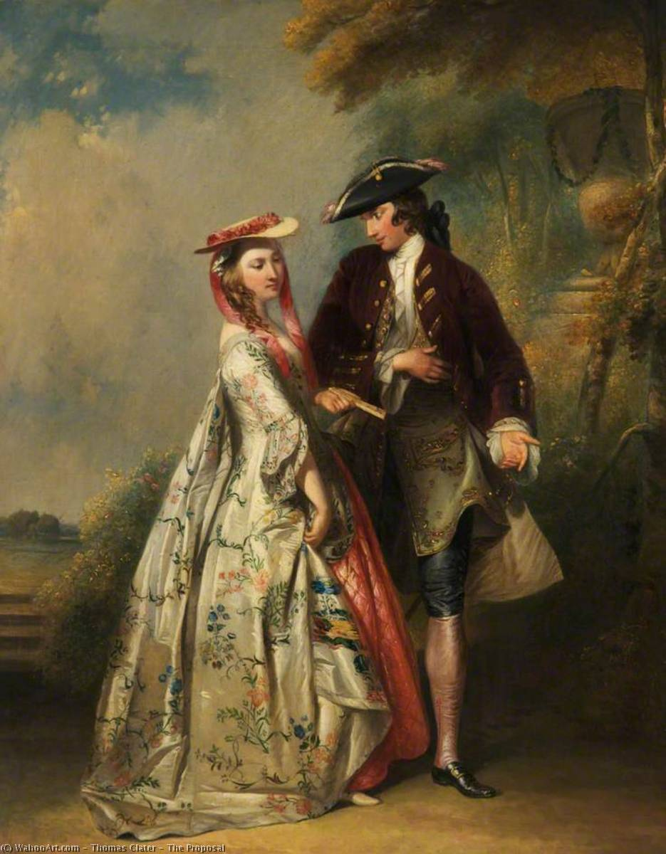 The Proposal, 1825 by Thomas Clater | Art Reproduction | WahooArt.com