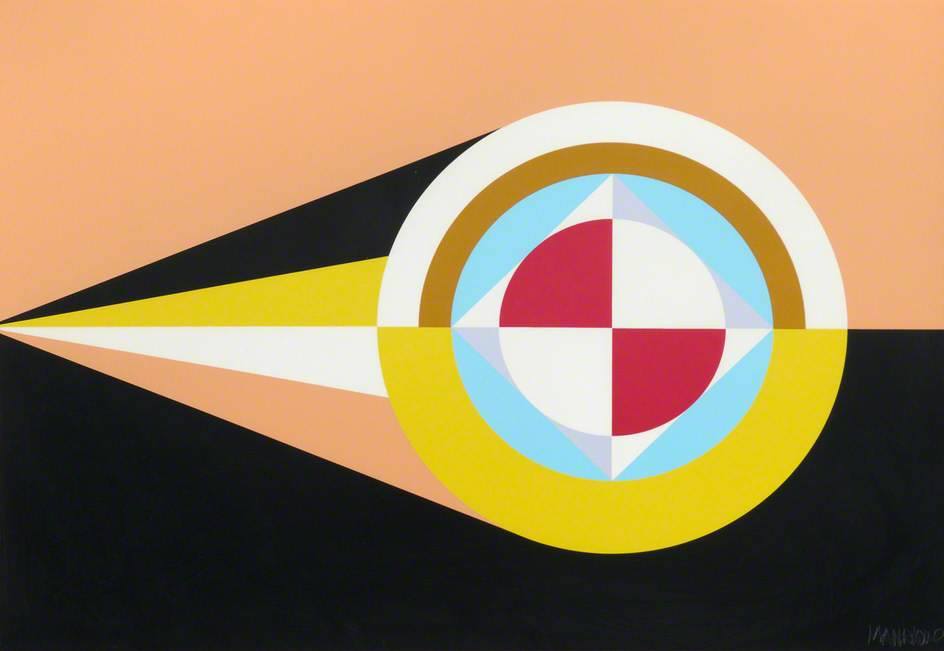 Flags of the Undiscovered Planets 1, Acrylic On Paper by César Manrique (1919-1992)