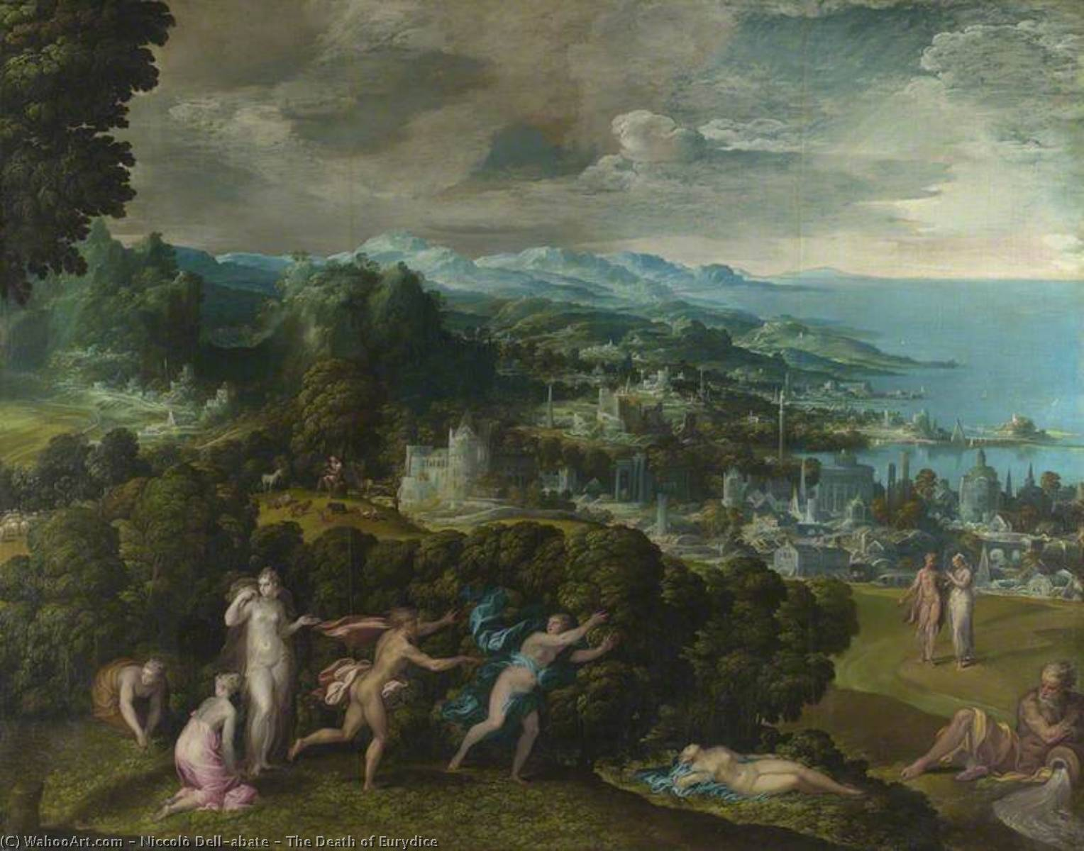 The Death of Eurydice, Oil On Canvas by Niccolo Dell' Abate