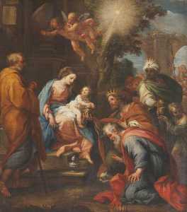 Giuseppe Bartolomeo Chiari - The Adoration of the Magi