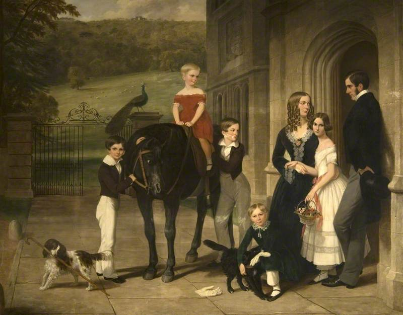 The Reverend Nathaniel Bond (1804–1889), and His Family, 1848 by William Beetham (1809-1888) | Museum Quality Copies William Beetham | WahooArt.com