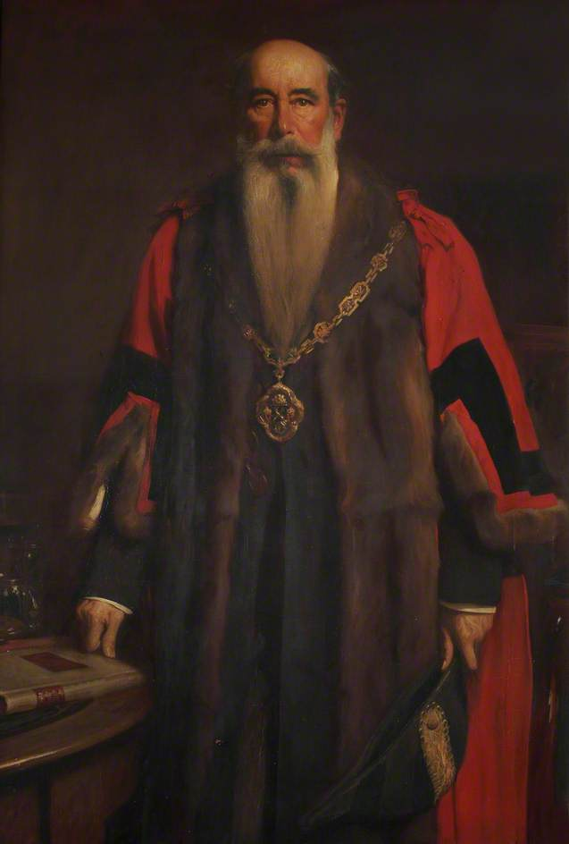 Buy Museum Art Reproductions | Sir John Aird, Bt, MP, 1st Mayor of the Borough of Paddington (1900–1902), 1903 by Sidney Edward Paget (1860-1908) | WahooArt.com