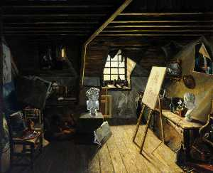John Le Capelain - The Artist's Studio in Hill Street