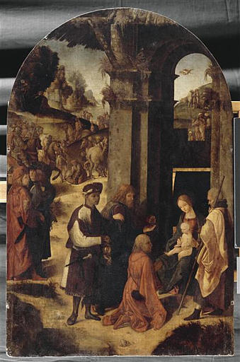 L`ADORATION DES MAGES by Ludovico Mazzolino (1480-1528, Italy) | Oil Painting | WahooArt.com
