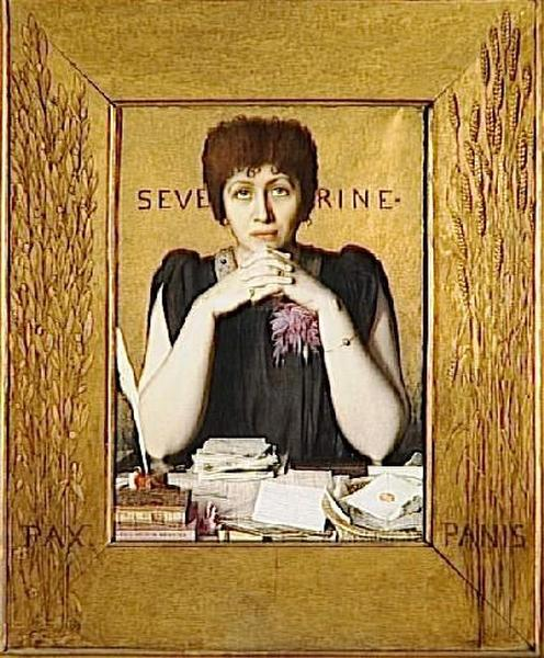 Order Famous Paintings Reproductions : Séverine by Louis Welden Hawkins (1849-1910) | WahooArt.com