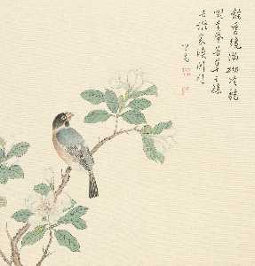 Puru ( Pu Xinyu) - PEAR FLOWER AND BIRD
