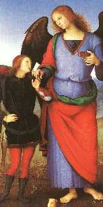 Pietro Perugino (Pietro Vannucci) - Tobias with the Angel Raphael
