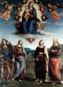 Pietro Perugino (Pietro Vannucci) - Madonna in Glory with the Child and Saints