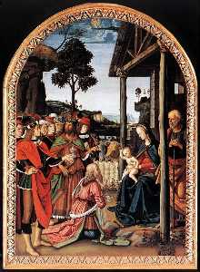 Pietro Perugino (Pietro Vannucci) - The Adoration of the Magi (Epiphany)