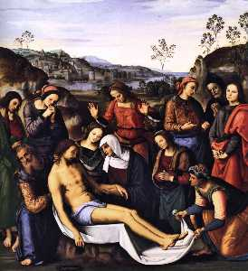 Pietro Perugino (Pietro Vannucci) - The Mourning of the Dead Christ (Deposition)