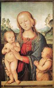 Pietro Perugino (Pietro Vannucci) - Madonna with Child and the Infant St John
