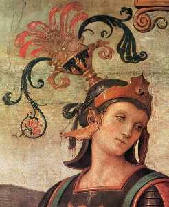 Pietro Perugino (Pietro Vannucci) - Famous Men of Antiquity (detail)