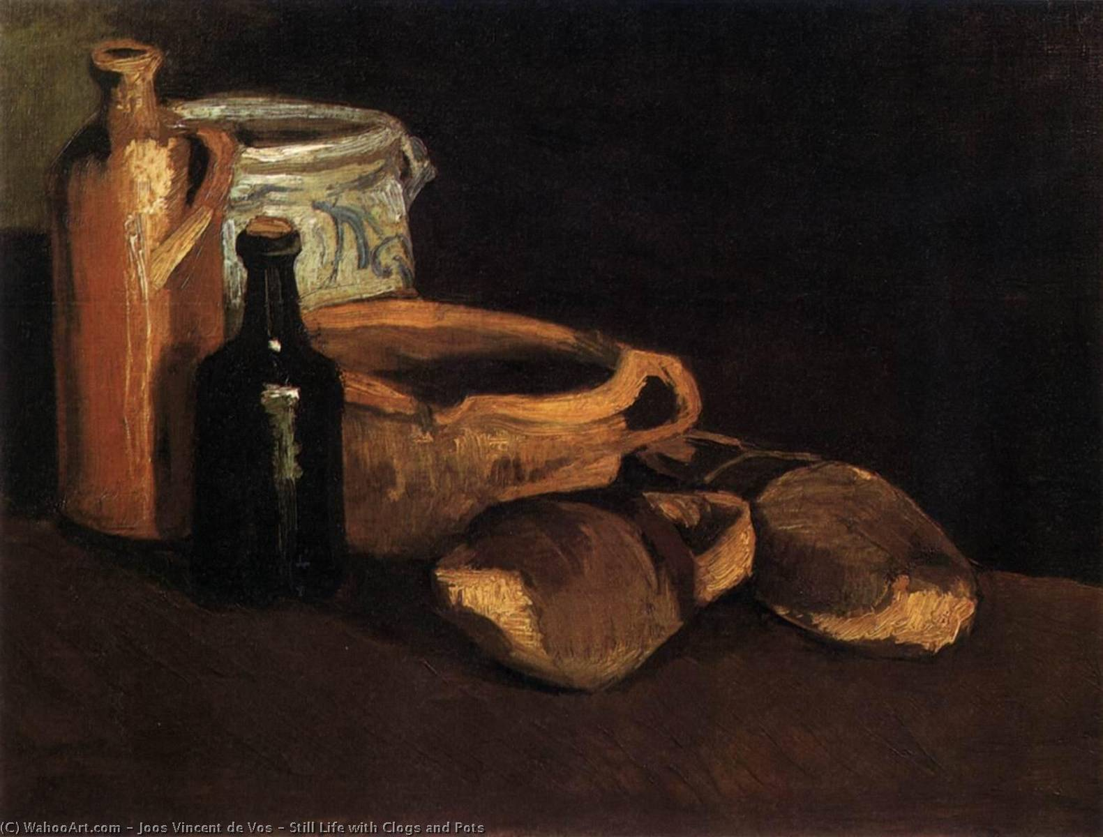 Still Life with Clogs and Pots, 1884 by Joos Vincent De Vos (1853-1890, Netherlands) | WahooArt.com