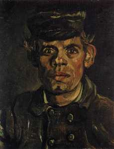 Joos Vincent De Vos - Head of a Young Peasant with a Peaked Cap
