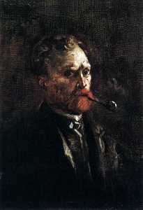 Joos Vincent De Vos - Self Portrait with Pipe