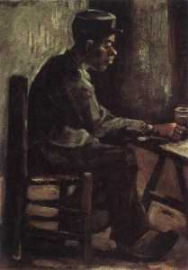 Joos Vincent De Vos - Peasant Sitting at a Table