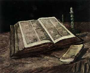 Joos Vincent De Vos - Still Life with Open Bible