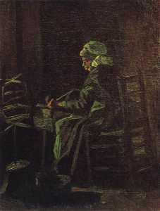 Joos Vincent De Vos - Peasant Woman at the Spinning Wheel