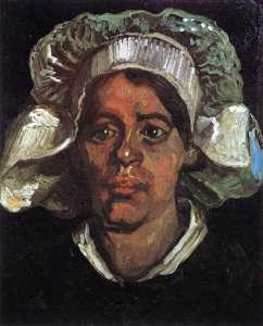 Joos Vincent De Vos - Head of a Peasant Woman with White Cap