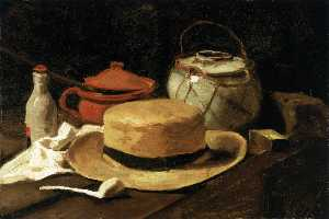 Joos Vincent De Vos - Still Life with Yellow Straw Hat