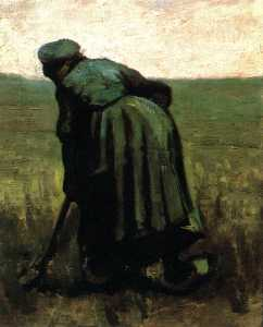 Joos Vincent De Vos - Peasant Woman Digging