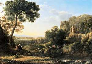Claude Lorrain (Claude Gellée) - Landscape with Shepherds