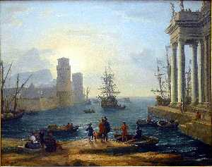 Claude Lorrain (Claude Gellée) - The Embarkation of Ulysses