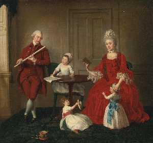 Johann Zoffany - Mr. James Blew and His Family in an Interior