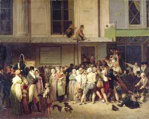 Louis Léopold Boilly - Entrance to a free show at the Ambigu Comique Theatre