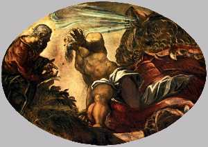 Jacopo Tintoretto - Jonah Leaves the Whale's Body