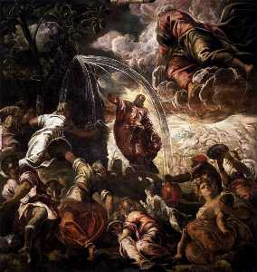 Jacopo Tintoretto - Moses Drawing Water from the Rock